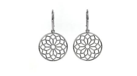 Kolczyki srebrne Chartres White