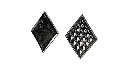 Kolczyki srebrne Chesterfield Black