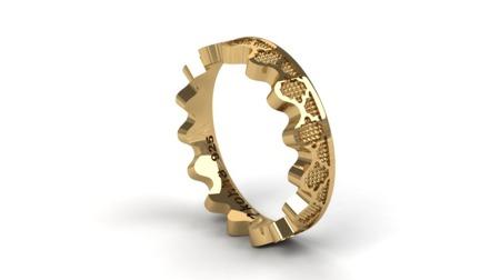 Obrączka Korona Gold