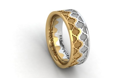 Zestaw obrączek Korona Silver and Gold