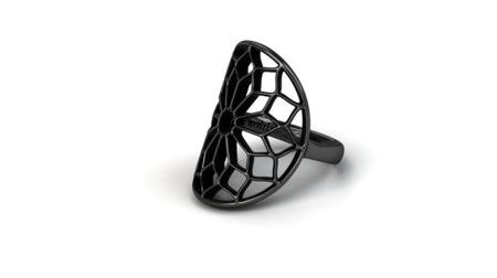Pierścionek srebrny Chartres Black